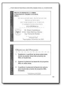 Evaluacion Del Potencial de Mitigacion D... by Castellanos, Edwin, Dr.