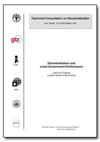 Decentralization and Local Government Pe... by Food and Agriculture Organization of the United Na...