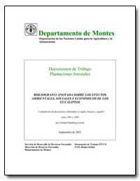 Bibliografia Anotada Sobre Los Efectos A... by Food and Agriculture Organization of the United Na...