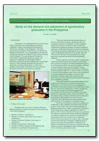 Study on the Demand and Placement of Agr... by Arboledn, Leah P.