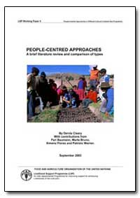 People-Centred Approaches a Brief Litera... by Cleary, Dervla