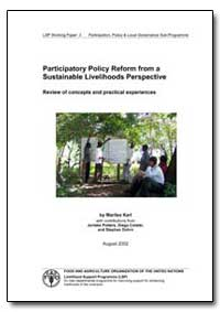 Participatory Policy Reform from a Susta... by Karl, Marilee