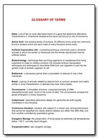 Glossary of Terms by Food and Agriculture Organization of the United Na...
