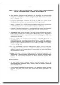 Solemn Declaration on the Conservation a... by Food and Agriculture Organization of the United Na...
