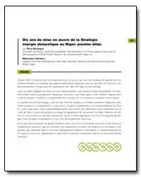 Dix Ans de Mise en Oeuvre de la Strategi... by Montagne, Pierre