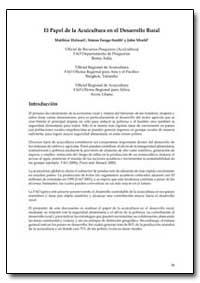 El Papel de la Acuicultura en El Desarro... by Halwart, Matthias