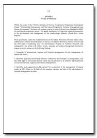 Terms of Reference by Food and Agriculture Organization of the United Na...