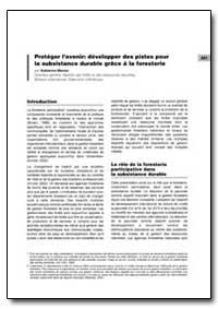 Proteger Lavenir: Developper des Pistes ... by Warner, Katherine