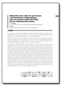 Elaboration Dun Cadre de Sylviculture Co... by Mansur, E.