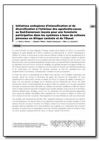 Initiatives Endogenes Dintensification e... by Sonwa, Denis J.