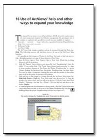 Use of Arcviews Help and Other Ways to E... by Food and Agriculture Organization of the United Na...