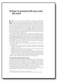 How to Proceed with Your Own Gis Work by Food and Agriculture Organization of the United Na...
