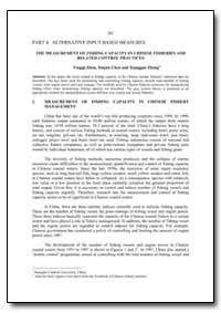 The Measurement of Fishing Capacity in C... by Food and Agriculture Organization of the United Na...