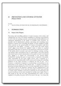 Prevention and Control of Water Pollutio... by Food and Agriculture Organization of the United Na...