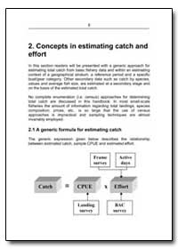 Concepts in Estimating Catch and Effort by Food and Agriculture Organization of the United Na...