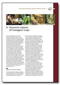 Economic Impacts of Transgenic Crops by Food and Agriculture Organization of the United Na...