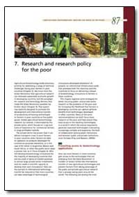 Research and Research Policy for the Poo... by Food and Agriculture Organization of the United Na...