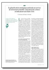 La Planification Strategique Nationale a... by Grinspoon, E.