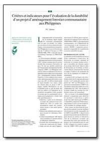 Criteres et Indicateurs Pour L'Evaluatio... by Dolom, P. C.