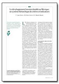 Le Developpement Forestier Durable au Me... by Alvarez, C. Lujan