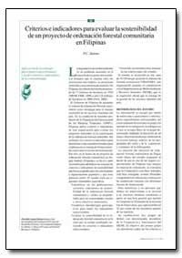 Criterios E Indicadores para Evaluar la ... by Dolom, P. C.