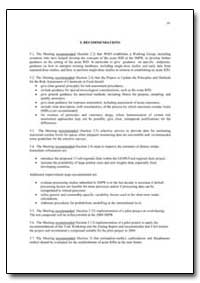 Recommendations by Food and Agriculture Organization of the United Na...