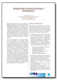 Responsible Shrimp Farming in Madagascar by Food and Agriculture Organization of the United Na...