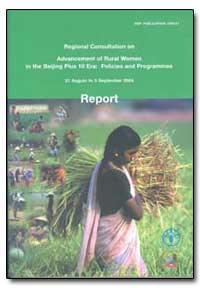 Regional Consultation on Advancement of ... by Food and Agriculture Organization of the United Na...