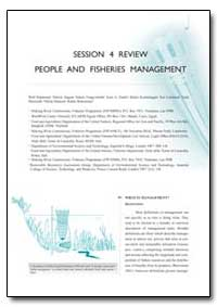 Session 4 Review People and Fisheries Ma... by Hartmann, Wolf
