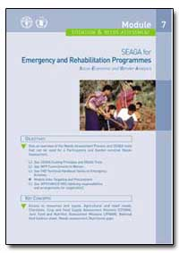 Situation and Needs Assessment by Food and Agriculture Organization of the United Na...