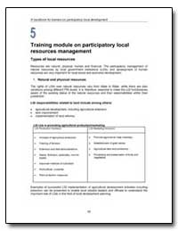 Training Module on Participatory Local R... by Food and Agriculture Organization of the United Na...