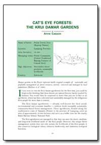 Cat's Eye Forests : The Krui Damar Garde... by Casson, Anne