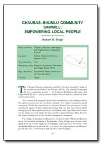 Chaubasbhumlu Community Sawmill Empoweri... by Singh, Hukum B.