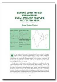Beyond Joint Forest Management Duglijawa... by Phukan, Biswa Ranjan