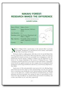 Nakavu Forest: Research Makes the Differ... by Lenoa, Lemeki