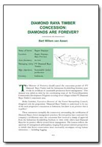 Diamond Raya Timber Concession : Diamond... by Van Assen, Bart Willem