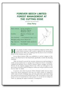 Forever Beech Limited : Forest Managemen... by Perry, Chas