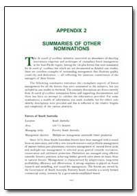 Summaries of Other Nominations by Food and Agriculture Organization of the United Na...