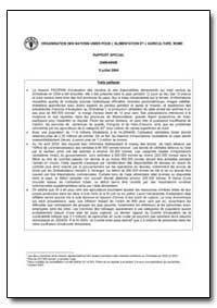 Rapport Special Zimbabwe by Food and Agriculture Organization of the United Na...