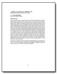 A Review of the Results of Demersal Fish... by Sivasubramaniam, K.