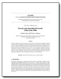 Poverty and Agricultural Growth: Chile i... by Lopez, Ramon