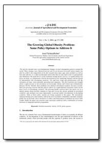 The Growing Global Obesity Problem: Some... by Schmidhuber, Joséf