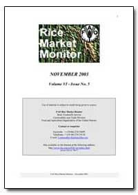 Rice Market Monitor November 2003 by Food and Agriculture Organization of the United Na...