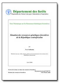 Situation des Ressources Genetiques Fore... by Yalibanda, Yves