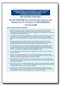 Relatorio Especial Missao Fao/Pam de Ava... by Food and Agriculture Organization of the United Na...