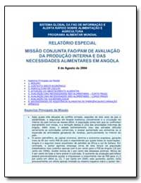 Relatorio Especial Missao Conjunta Fao/P... by Food and Agriculture Organization of the United Na...