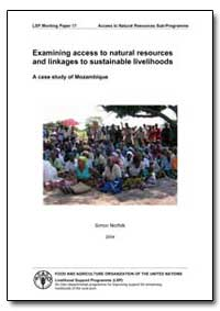 Examining Access to Natural Resources an... by Norfolk, Simon