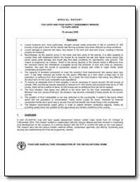 Fao Crop and Food Supply Assessment Miss... by Food and Agriculture Organization of the United Na...