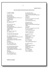 List of Participants/Liste des Participa... by Food and Agriculture Organization of the United Na...