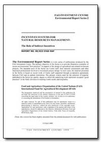 Incentives Systems for Natural Resources... by Food and Agriculture Organization of the United Na...